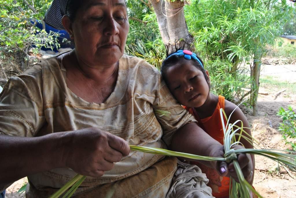 Desde muy jóvenes, los niños de la zona ven a sus mayores elaborar objetos de palma. Por ello, cuando llega la hora de que les enseñen a hacerlo, les resulta sencillo adquirir la destreza necesaria para este arte.