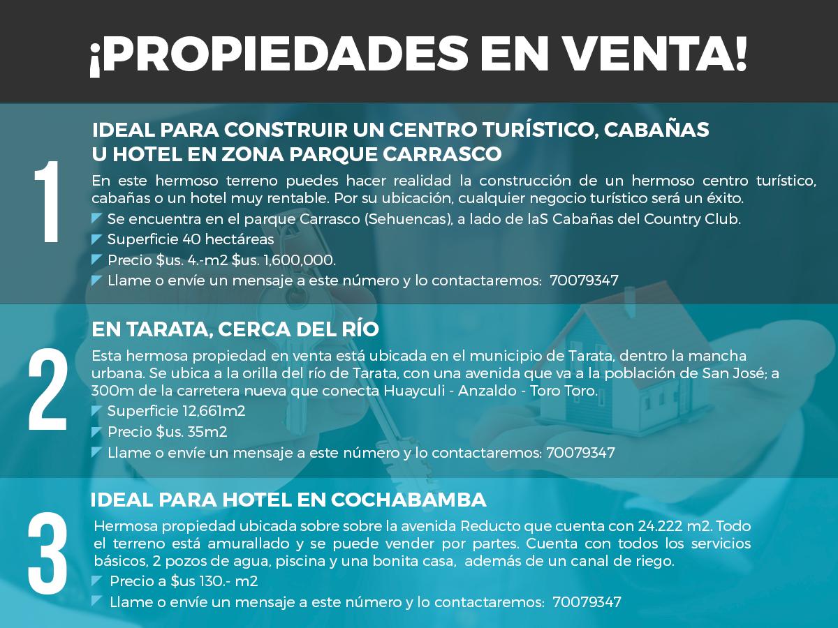 Publicidad / Oportunidad de negocios para el sector turístico.