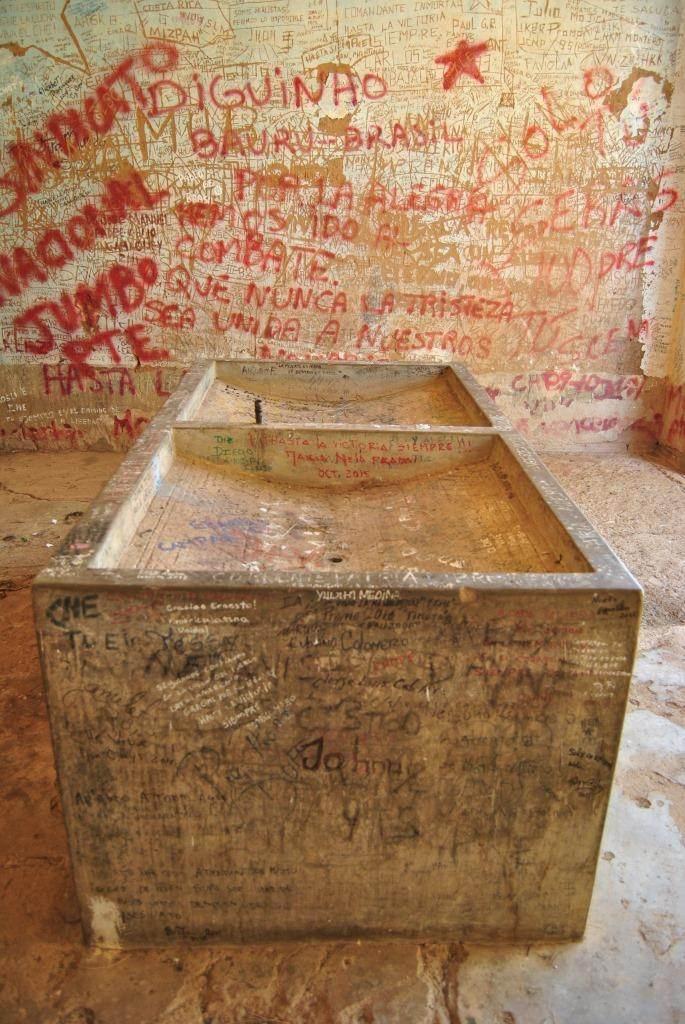 Lavandería del Hospital Nuestro Señor de Malta, donde fue expuesto el cuerpo sin vida del guerrillero argentino-cubano.