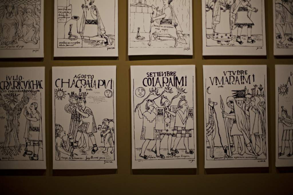 Los dibujos de Felipe Guamán Poma de Ayala nos permiten conocer las particularidades de las vida de los indígenas en la época de la conquista. Foto: Patricio Crooker ©
