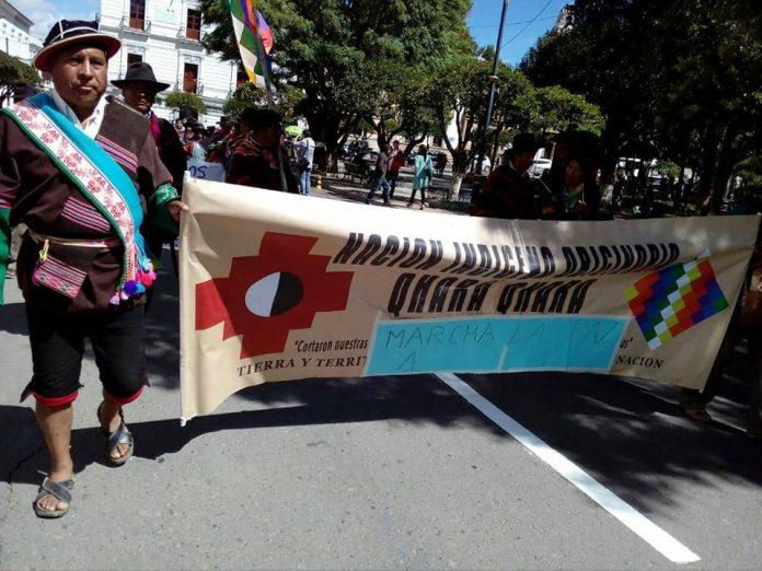 3f2762c83 Este miércoles partió la marcha de los pueblos indígenas rumbo a La Paz.